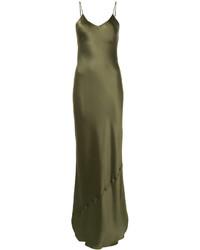 san francisco 421c0 3bb2d Abiti da sera di seta verde oliva da donna | Moda donna ...