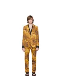 Abito di lana a fiori giallo di Dries Van Noten
