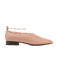 Ballerine in pelle decorate marrone chiaro di Jil Sander