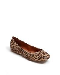 Ballerine in pelle scamosciata leopardate marroni