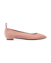 Ballerine in pelle scamosciata rosa di The Row