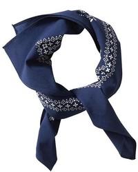 Bandana a fiori blu scuro
