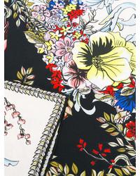 Bandana a fiori nera di Fendi