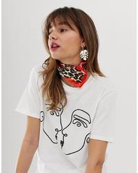 Bandana di seta stampata multicolore di ASOS DESIGN