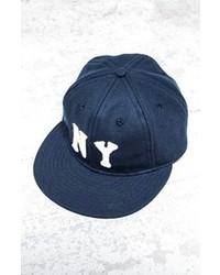 Berretto da baseball blu scuro e bianco