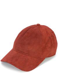 Berretto da baseball in pelle rosso di Rag & Bone