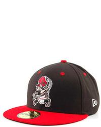 Berretto da baseball rosso e nero