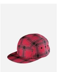 Cappellino con visiera rosso