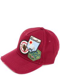 Berretto da baseball rosso di DSQUARED2