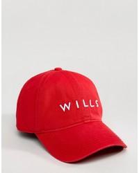 Berretto da baseball rosso di Jack Wills