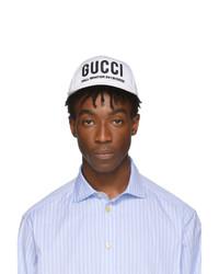 Berretto da baseball stampato bianco di Gucci