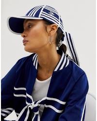 Berretto da baseball stampato blu scuro e bianco di adidas Originals