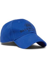 Berretto da baseball stampato blu di Balenciaga