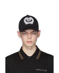 Berretto da baseball stampato nero e bianco di Versace