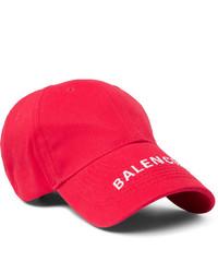 Berretto da baseball stampato rosso e bianco di Balenciaga