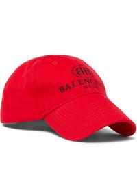 Berretto da baseball stampato rosso di Balenciaga