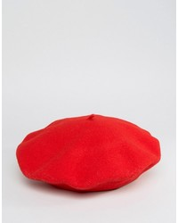 Berretto rosso di Kangol