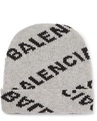 Berretto stampata grigia di Balenciaga