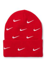 Berretto stampata rossa di Nike