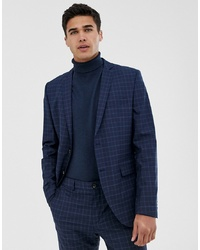 Blazer a quadri blu scuro di Jack & Jones