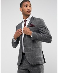 Blazer a quadri grigio di Selected