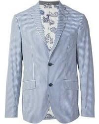 giacca a righe verticali uomo