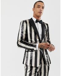 giacca bianco e nero verticali