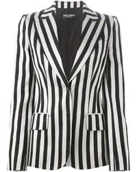 Blazer a righe verticali bianco e nero di Dolce & Gabbana