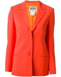 Blazer arancione di Versace