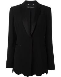 Blazer con paillettes nero di Versace
