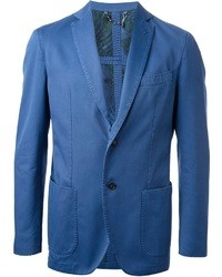 Blazer di cotone blu
