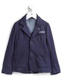 Blazer di cotone blu scuro di Armani Junior