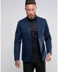 Blazer di cotone blu scuro di Asos