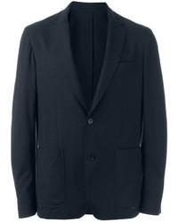 Blazer di cotone blu scuro di Salvatore Ferragamo