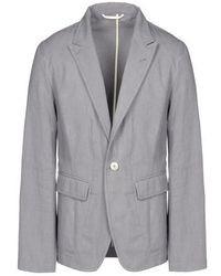 Blazer di cotone grigio