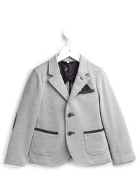Blazer di cotone grigio di Armani Junior