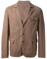 Blazer di cotone marrone