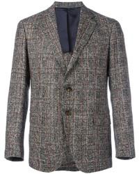 Blazer di lana a quadri grigio di Eleventy