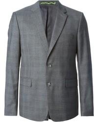 Blazer di lana a quadri grigio di Kenzo