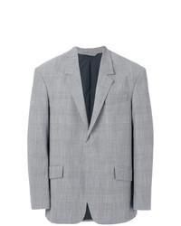 Blazer di lana a quadri grigio di Tonello Cs