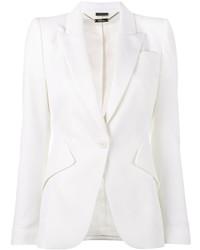 Blazer di lana bianco di Alexander McQueen