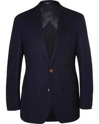 Blazer di lana blu scuro