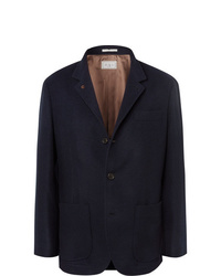 Blazer di lana blu scuro di Brunello Cucinelli