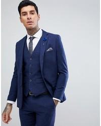 Blazer di lana blu scuro di Harry Brown