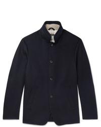 Blazer di lana blu scuro di Loro Piana