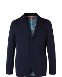 Blazer di lana blu scuro di Missoni