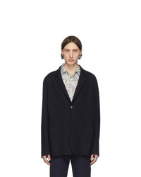 Blazer di lana blu scuro di Paul Smith