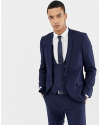 Blazer di lana blu scuro di Twisted Tailor