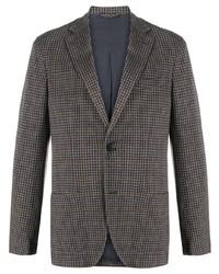 Blazer di lana con motivo pied de poule grigio di Altea