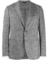 Blazer di lana con motivo pied de poule grigio di Tonello